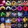Battery Operated LED Fairy String Lights Mains Powered Lamp Outdoor Xmas Wedding