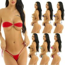New listing Women Exotic Mini Bikini Bra Micro G-string Thong Lingerie Underwear Swimwear