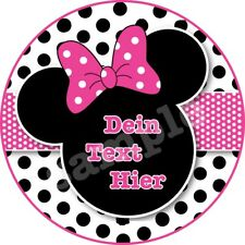 Micky Minnie Maus Eßbar Tortenbild Tortenaufleger NEU Party Deko personalisiert