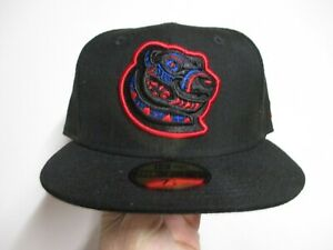 PAWTUCKET RED SOX MINOR LEAGUE NEW ERA (5950) FITTED HAT (7 1/8) NWT $38 BLACK