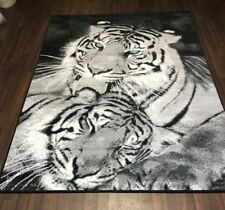 TOP QUALITY RUGS BLACK-GREY APPROX 8X5FT BEST AROUND TIGERS STUNNING RUGS