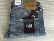 Men's Edwin ED-55 Regular Tapered Distressed Blue Jeans W36 L32 BNWT