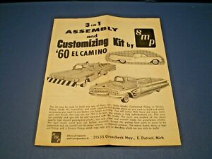 "SMP ""1960 El Camino 3 in 1 series "" Original model kit Instruction sheet"