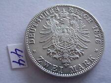Kaiserreich 2 Mark 1876 C ss/vz j.96 Preußen Kaiser Wilhelm I. 1861-1888 Silber
