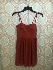Women's Size XS American Eagle Outfitters Mulberry Pink Lace Eyelet Dress Boho