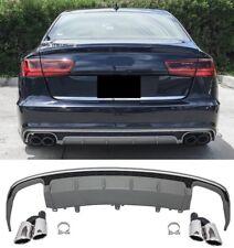 Für Audi A6 4G RS6 Look S6 Look Diffusor + Auspuffblenden Seitenschweller Grill