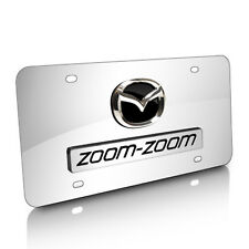 Mazda Zoom-Zoom 3D Logo Chrome Stainless Steel License Plate