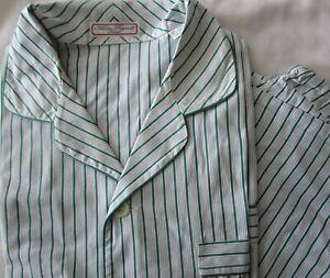 Alain Figaret Paris 100% Cotton Pajamas 2PJs Set w/ Drawstring Pants Men's Large