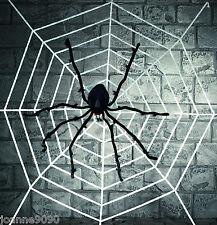 Gigante Deluxe Araña con 2m Blanco Halloween Peludo ARAÑAS Banda Web Decoración