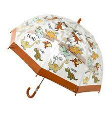 Bugzz Kids Dino Brolly Dome Childrens / Childs Clear PVC Umbrella Fun Umbrellas