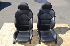 2001-2006 BMW E46 M3 COUPE FRONT BLACK LEATHER SEATS POWER LOW MILES OEM