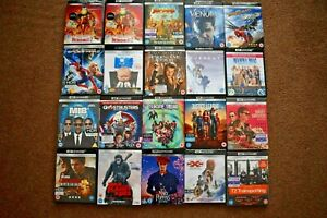 4K UHD & Blu Ray, Joblot Bundle Collection A. VG/New Condition. 500+ Listing A