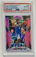 Zion Williamson 2019 Panini Prizm Draft Picks #64 Pink Pulsar Rookie RC PSA 10