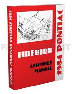 1984 Pontiac Firebird Factory Assembly Manual Trans Am SE