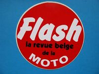 ancien Autocollant Flash Revue de la Moto Belge