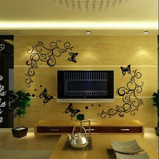 Removable Butterfly Flower Art Vinyl Decal Mural Decor Wall Stickers Decoration