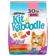 2 Bags x 30 lb. Cat Food Kit & Kaboodle, Chicken, Liver, Turkey & Ocean Fish
