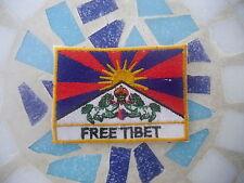 ॐ AUFNÄHER PATCH goa psy FREE TIBET Flag Fane DALAI LAMA Hippie peace yoga ॐ