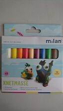 Milan Plastilin Knetmasse Knete Kinderknete 10 Stangen farbig