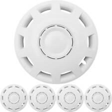 """4x Premium Diseño Tapacubos 14 Pulgadas """"Granito"""" en Blanco"""