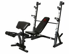 New Complete Olympic Size Workout Bench Home Gym Fitness Weight Lifting Press 2""