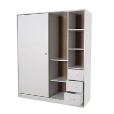 PriceWorth Redfern Builtin Modular-1600mm Sliding Wardrobe/Storage- White