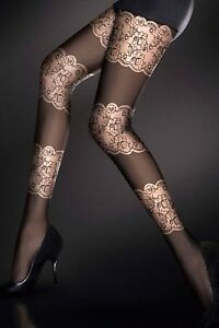 120 DENIER OPAQUE PATTERNED LUXURY PANTYHOSE TIGHTS  Miss Jane 1314