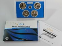 2019 S PROOF American Innovation 4 Coin Dollar Set US Mint OGP and COA