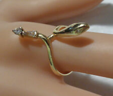 SNAKE DESIGN 14KT DIAMOND RING SIZE 8  DIAMOND EYES ON SNAKE TAIL