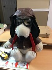 """1968 Plush Snoopy Pilot Aviator Large 18"""" Complete Outfit Made In Korea"""