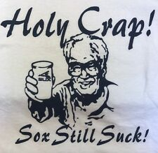 Harry Caray Holy Crap Sox Still Suck Chicago Cubs Ringer Tee T Shirt Men's M