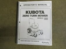 Kubota ZG20 ZG23 ZG 20 23 ZTR mower owners & maintenance manual