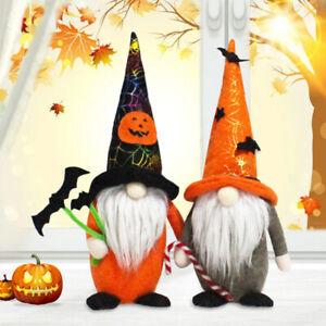 Halloween Gonks Gnomes Handmade Pumpkin Bat Plush Tomte Swedish Farmhouse Decor