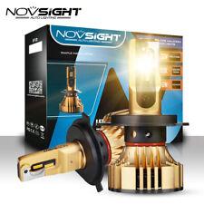 2x NOVSIGHT H4 LED 72W 12000LM Headlight Bulbs Kit Gold Yellow Light Hi/Lo 3000K