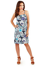 Pistachio Womens Floral & Animal Print Dress Short Strappy Summer Beach Sundress