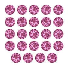 Cristales de Swarovski Hotfix 2078 Flatback 5mm (SS20) Rosa-Paquete de 24 (K66/10)