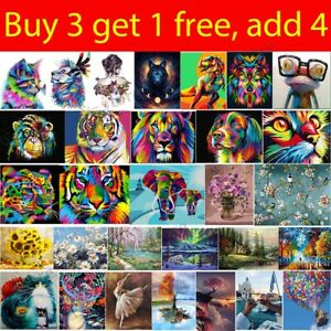 Oil Painting By Numbers Kit Paint on Canvas For Adult Kid Beginner Frameless DIY