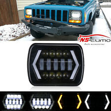 "1pc 7x6"" 5x7"" inch LED Headlight DRL Turn Signal For Toyota Nissan Pickup Truck"