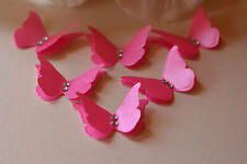 20 3D HOT PINK SHIMMER BUTTERFLY WEDDING CONFETTI TABLE DECORATION TOPPERS.
