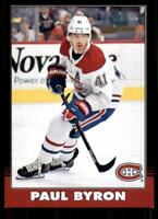 2020-21 UD O-Pee-Chee Retro Black Border 449 Paul Byron /100 Montreal Canadiens