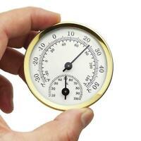 Indoor Analog Humidity Temperature Meter Gauge Thermometer Hygrometer House J7R4