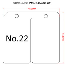 2x YAMAHA BLASTER YFS 200 REED VALVE PETAL MEMBRANE 100% carbon fiber