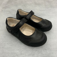 Girls Clarks School Shoes LilfolkBud Black Leather Size 8G Sale Price Was £36