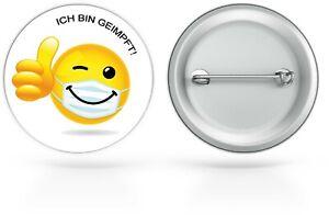 Ich bin geimpft Button Anstecker Ansteckbutton Button Knopf Abzeichen Brosche