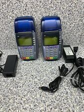 2 untested sold as is Verifone Omni 3750 Credit Card Terminals w/ Chip Readers