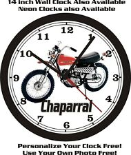 1973 CHAPARRAL MOTORCYCLE WALL CLOCK-FREE US SHIP!