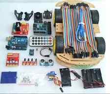 Multi Functional 4WD Robot Car Kits Sensor Board Ultrasonic Module Arduino UNO