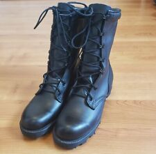 Black Leather Speedhook Eyelet Lacing Military Combat Boots RO Search Lug Sz 4R