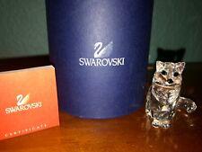 Swarovski Crystal figurines cat sitting