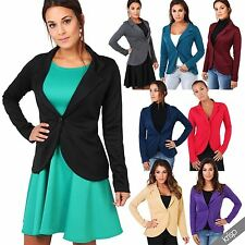 Polyester Blazer Single Breasted Coats & Jackets for Women